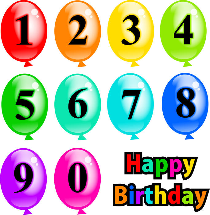 clipart birthday numbers - photo #35