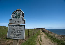 7944   Signboard for Bay Ness, Yorkshire
