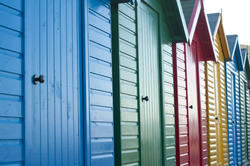 7839   Colourful beach huts