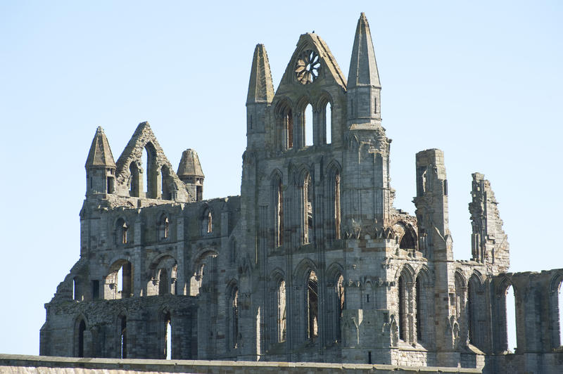 Ruins of Benedictine's Abbey in Whitby, North Yorkshire