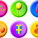 9395   birthday buttons