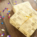 11434   Two gift wrapped birthday presents