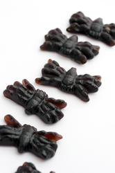 8538   Detail of Halloween jelly spiders