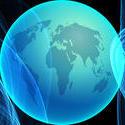 9272   blue globe banner