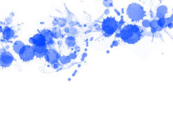 9527   blue paint splats