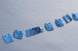 11438   Blue decorative shapes for a birthday boy