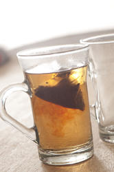 11612   Transparent glass with brewing black tea