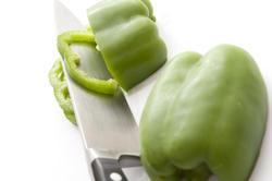 11778   Slices of fresh green capsicum