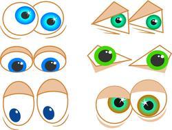 8951   cartoon eyes002