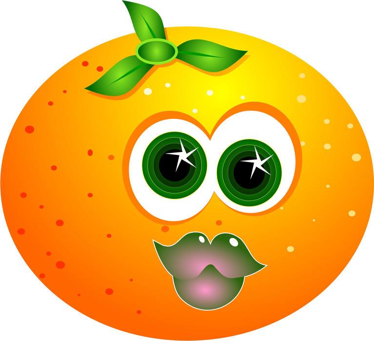 Free Stock Photo 9114 cartoon orange   freeimageslive