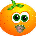 9114   cartoon orange