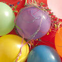 11442   Colorful party balloons and streamers