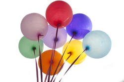 10593   Bunch of colorful party balloons