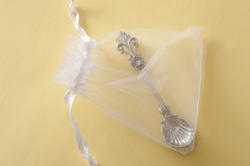 10573   Silver christening spoon in a gift bag
