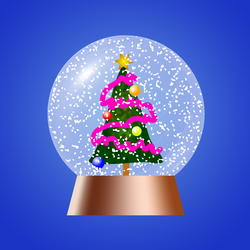 9308   christmas tree snow globe