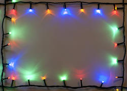 11682   Colorful shining Christmas light border