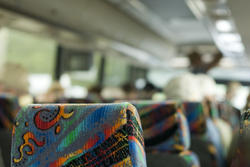 11133   Interior of a tour coach bus