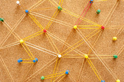 10773   Networking Concept Using Pins and Rubber Bands