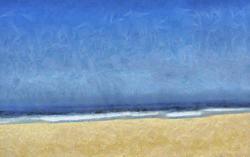 9445   digital beach painting