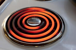 8412   Red hot glowing hot plate