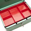 stock image 10808   Empty Metal Petty Cash Box with Key