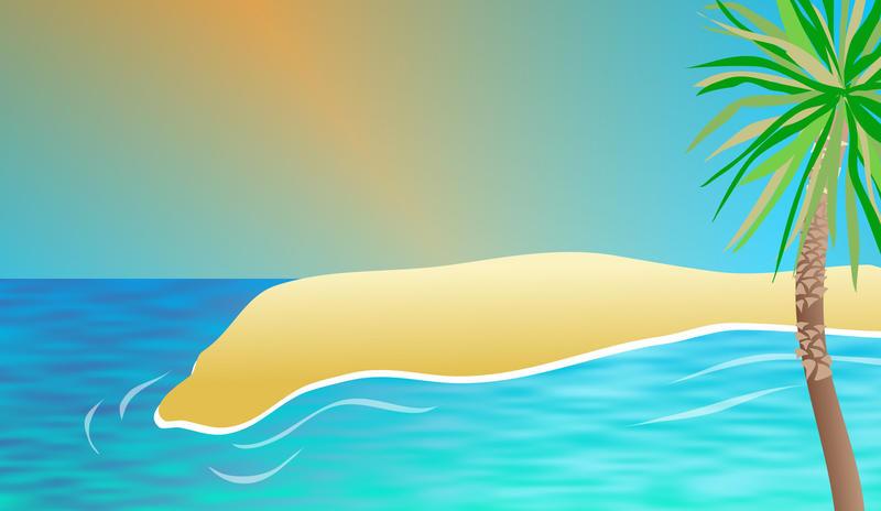 free stock photo 9446 exotic beach background