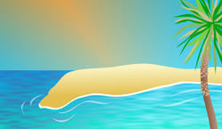 9446   exotic beach background