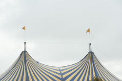 10978   Striped top of a Big Top Circus tent