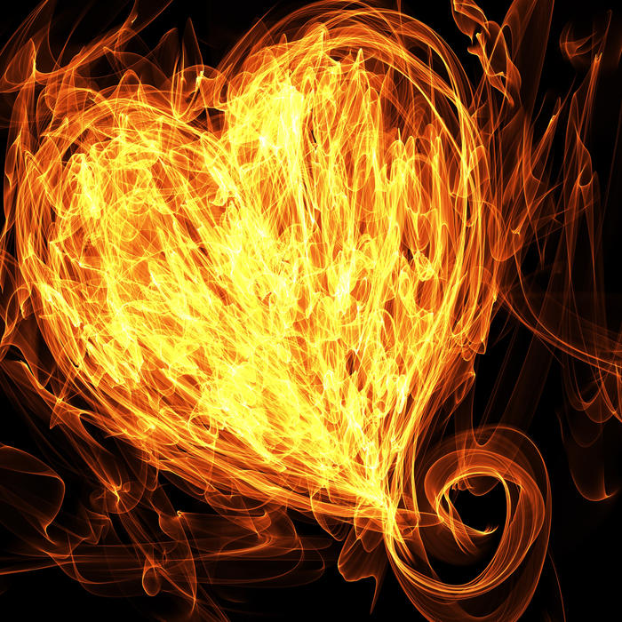 <p>Heart on fire clip art illustration.</p>