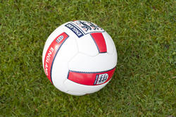 9966   England soccer ball on a green field