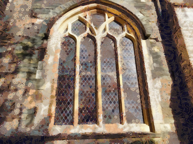 <p>Church window. painted effect</p>
