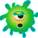 stock image 9283   germ virus003