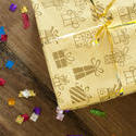 11454   Gift wrapped birthday present