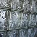 10922   Glass bricks with a textured pattern