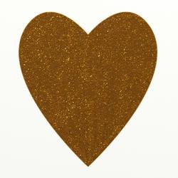 9414   gold glitter heart002