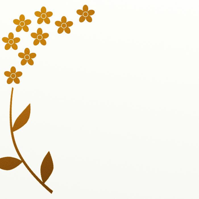 Free Stock Photo 9014 gold leaf flower border | freeimageslive