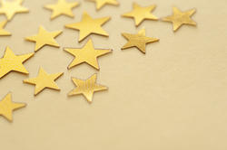 11200   Gold star background with copyspace