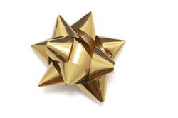 8634   Shiny decorative bow made of golden ribbon