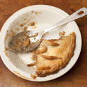 10481   Half eaten pie with a pastry crust