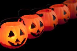8542   Orange Halloween jack o lanterns