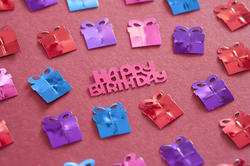 11458   Happy Birthday background with gifts and text