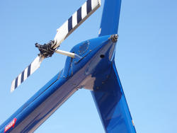 11125   Tail Rotor at the End of a Blue Helicopter