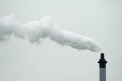 10792   Smoke From Industrial Chimney on Gray Sky