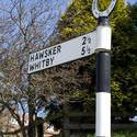 7980   Old signpost at Robin Hoods Bay