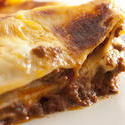 10616   Close up Edge of Tasty Italian Lasagne Dish
