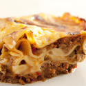 10617   Close up Appetizing Lasagne on White Plate
