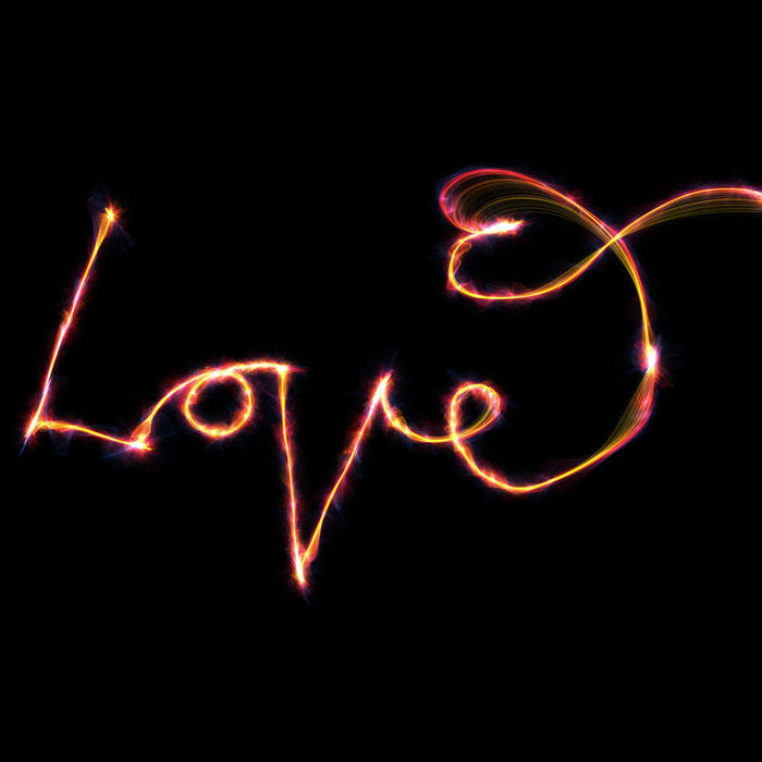 <p>Love glow text clip art illustration.</p>