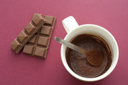 11620   Mug of Cocoa with Bars of Chocolate in Studio