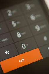 10816   Orange Call Dial Button on a Touch Screen Phone
