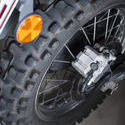 11137   Close up Brand New Motorbike Back Wheel
